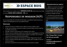 offre d'emploi Responsable de Magasin